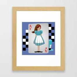 Alice 3D Flying Cards Framed Art Print