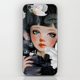 Sphynx Among Orchids iPhone Skin