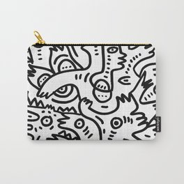 Summer Monsters Street Art Black and White Graffiti Carry-All Pouch