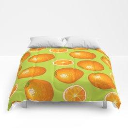 Orange Pattern Interior design Wall and Home Decor Comforters