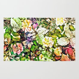 Scattered Blooms And Verdure Rug