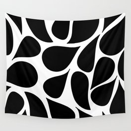 Abstract Black & White Foliage Pattern - Mix and Match with Simplicity of Life Wall Tapestry