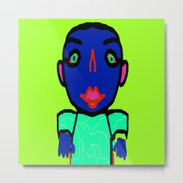 Hypno Boy, created by Mickeys Art And Design. Metal Print