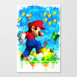Super Mario Van Gogh style Canvas Print