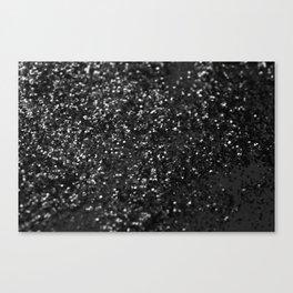 Black & Silver Glitter #1 #decor #art #society6 Canvas Print