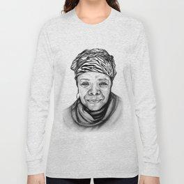 Maya Angelou - BW Original Sketch Long Sleeve T-shirt