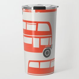 London Double Decker Red Bus Travel Mug