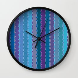 Multi-faceted decorative lines 4 Wall Clock