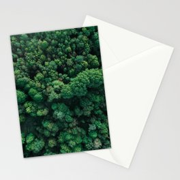 Trees from above | Forest fine art photography | Aerial drone photo print Stationery Cards