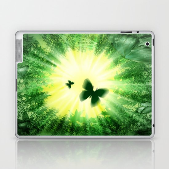 """The sun and the """"Butterfly - Effect""""! Laptop & iPad Skin"""