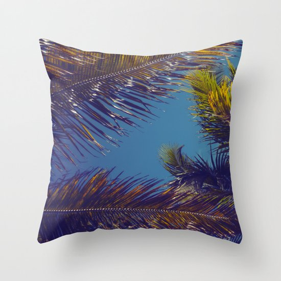 Palm Sky Throw Pillow