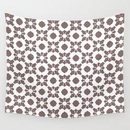 Purple Ornamental Flower Pattern Wall Tapestry