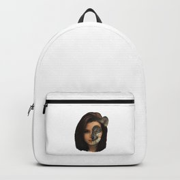 Wolf woman, hybrid creature, fantasy Backpack