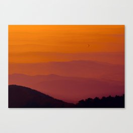 Hot air balloon at sunrise Canvas Print