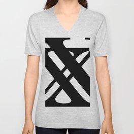 Hidden Letters. Baskerville X Unisex V-Neck