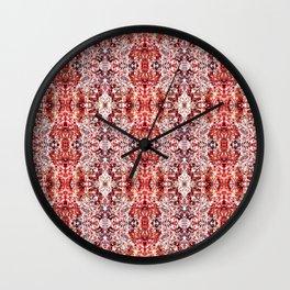 Beautiful Red Foklore Damask Pattern Wall Clock
