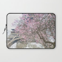 Paris in Springtime with the Eiffel Tower Laptop Sleeve