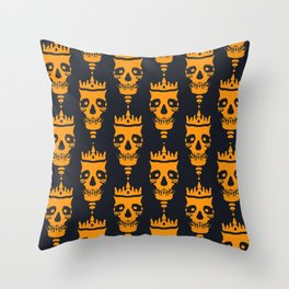 King of Darkness Throw Pillow