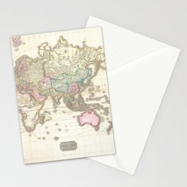 Vintage Map of The Eastern Hemisphere (1818) Stationery Cards