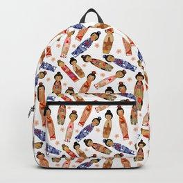 KOKESHI DOLL WHITE Backpack