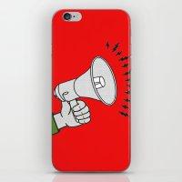 propaganda iPhone & iPod Skins featuring Megaphone propaganda by Et Voilà