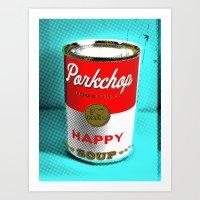 CONDENSED HAPPY Art Print