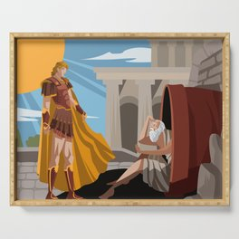diogenes the cynic greek philosopher and alexander the great Serving Tray
