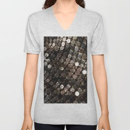 Shiny Unisex V-Neck