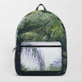 Palm Trees in a Tropical Garden Backpack