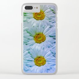 Painterly Daisies Clear iPhone Case