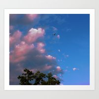 airplanes Art Prints featuring There, Airplanes by Alisha Greenlaw