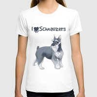 schnauzer T-shirts featuring Schnauzer by Bark Point Studio