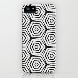Black & White Hexa iPhone Case