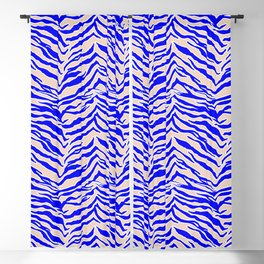 Tiger Print - Cobalt Blue Blackout Curtain