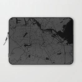 Amsterdam Gray on Black Street Map Laptop Sleeve