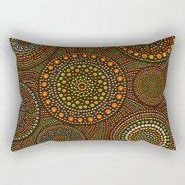 Dot Art Circles Aboriginal Art #1 Rectangular Pillow