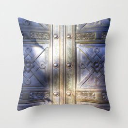 Crypt Door Highgate Cemetery Throw Pillow