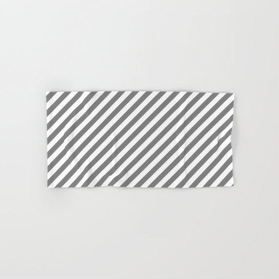 Diagonal Stripes (Gray/White) Hand & Bath Towel