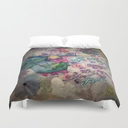 Lilacs in the Rain Duvet Cover