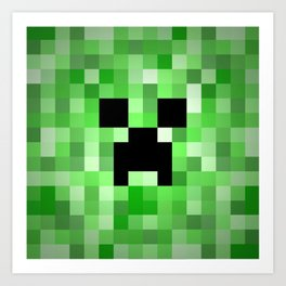 Creepy Creeper! Art Print