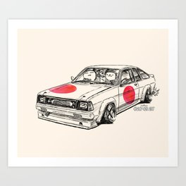 Crazy Car Art 0180 Art Print