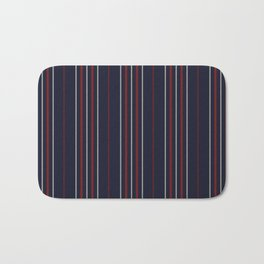 The striped apron Bath Mat