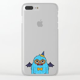 Monsticky Sky-blue monster Clear iPhone Case