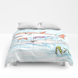 Megamouth Shark & Queensland Sawfish Comforters