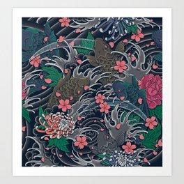 Blossom Blizzard Art Print