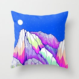 The vibrant Peak Throw Pillow