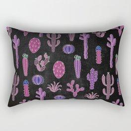 Cactus Pattern On Chalkboard Rectangular Pillow