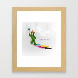 Cactus Mascot Framed Art Print