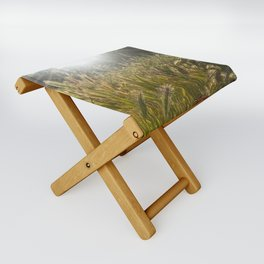Wheat and poppies Folding Stool