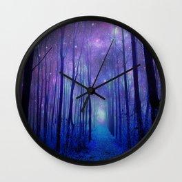 Fantasy Path Purple Blue Wall Clock
